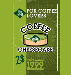 color vintage cafe banner vector image