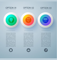 conceptual pictogram options background vector image