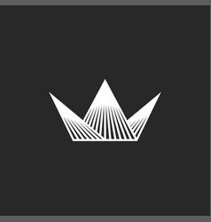 crown logo mockup line art minimalist style vector image