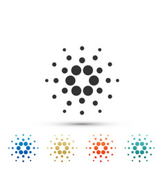 Cryptocurrency coin cardano ada icon isolated vector