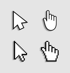 cursor hand icon from pixels pointer mouse vector image