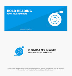 Curved flow pipe water solid icon website banner vector