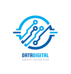 data digital electronic technology - logo vector image