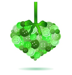 Decorative heart from green colors buttons eps10 vector