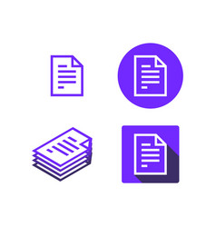 document icon set pack vector image