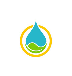 Eco waterdrop nature bio logo vector