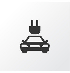 Electric car icon symbol premium quality isolated vector