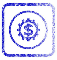 Financial industry framed textured icon vector