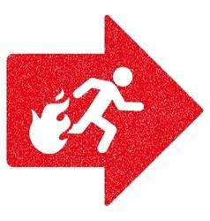 Fire Exit Grainy Texture Icon vector