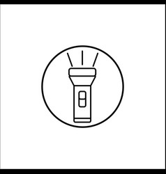 Flashlight line icon mobile sign graphics vector