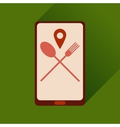 Flat web icon with long shadow mobile cafe vector