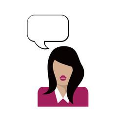 flat woman icon vector image