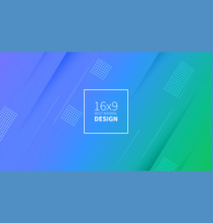 futuristic design green and blue background vector image