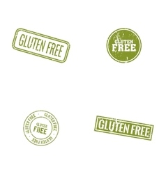 Gluten Free labels vector image