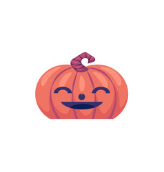halloween carved pumpkin with smiling face vector image