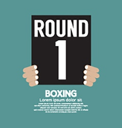 Hand Show Boxing Ring Board vector