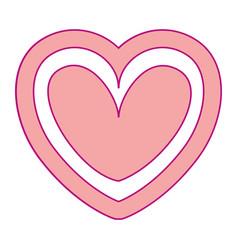 heart love silhouette decorative vector image
