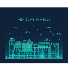 Heidelberg skyline linear vector