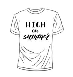 High on summer Brush hand lettering vector
