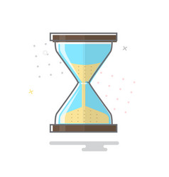 hourglass icon 10 eps vector image