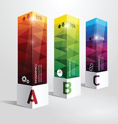 infographic template Modern box Design vector image