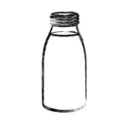 Isolated glass bottle design vector