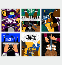 jazz music banners vector image