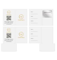 key card envelope die-cut template mockup vector image