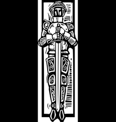 Knight Burial Image vector