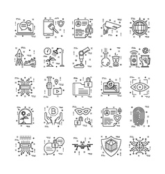Line Icons With Detail 10 vector image