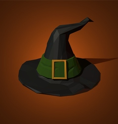low poly witch hat vector image