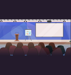 meeting conference room with furniture vector image