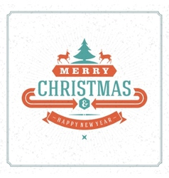 Merry Christmas holidays wish greeting card vector