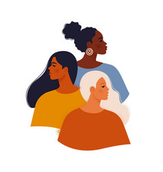 multi ethnic beauty female diverse faces vector image