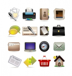 online business icon set vector image vector image