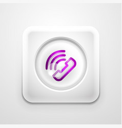 phone button call support idea vector image