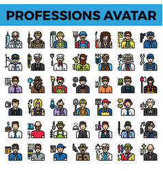 professions and occupation avatar vector image