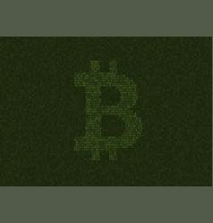 programming code with bitcoin sign vector image