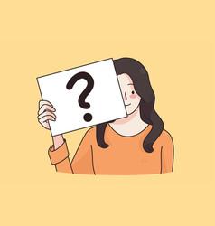 Question doubt asking concept vector