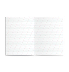realistic blank handwriting practice copy book vector image