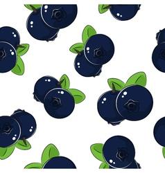 Seamless pattern blueberries vector