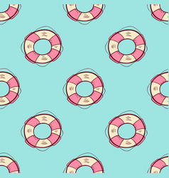 seamless pattern with lifebuoy vector image