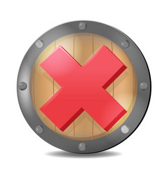 shield check red mark symbol vector image