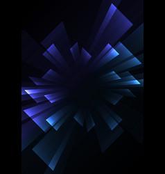 Square overlap stripe rush in dark background vector