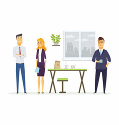 Strained relations in the office - modern cartoon vector