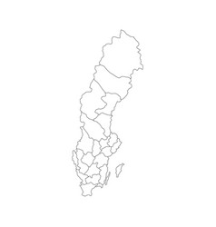 Sweden map with regions vector