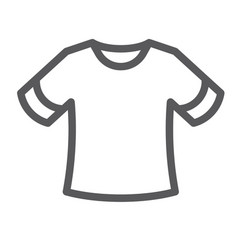 T-shirt line icon clothing and fashion shirt vector