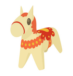 toy horse icon cartoon style vector image