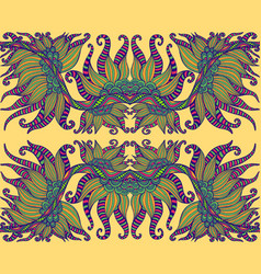 tribal shamanic psychedelic ethnic colorful floral vector image