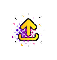 upload sign icon load symbol vector image